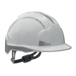 Cheap Stationery Supply of JSP EVOLite Safety Helmet ABS 6-point Harness Reflective Strips EN397 White AJB160-400-100 Office Statationery
