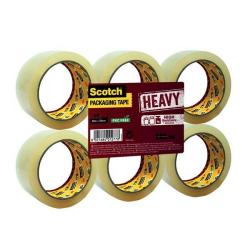 Cheap Stationery Supply of Scotch Heavy Packaging Tape High Resistance Hotmelt 50mmx66m Clear Pack of 6 UU005262835 Office Statationery