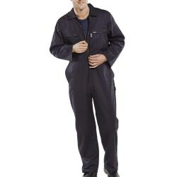 Cheap Stationery Supply of Super Click Workwear Heavy Weight Boilersuit Navy Blue Size 42 PCBSHWN42 *Up to 3 Day Leadtime* Office Statationery