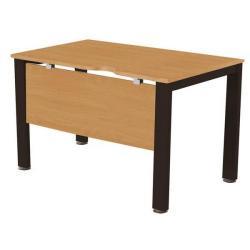 Cheap Stationery Supply of Sonix Office Furniture (80x80cm) Rectangular Desk (Beech) with a Black Frame fbcsmw8-1bbk Office Statationery