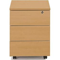 Cheap Stationery Supply of Sonix Office Furniture (43x57.5x56.5cm) Mobile Three Drawer Pedestal (Beech) w9975b Office Statationery