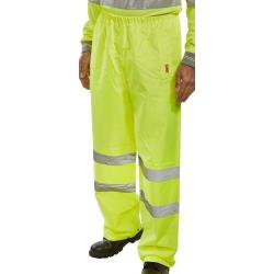 Cheap Stationery Supply of BSeen Traffic Trousers Hi-Vis Reflective Tape 4XL Saturn Yellow TENSYXXXXL *Up to 3 Day Leadtime* Office Statationery