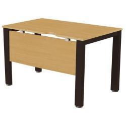 Cheap Stationery Supply of Sonix Office Furniture (80x80cm) Rectangular Desk (Oak) with a Black Frame fbcsmw8-1obk Office Statationery