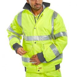 Cheap Stationery Supply of B-Seen Hi-Vis Super Bomber Jacket 5XL Saturn Yellow BD75SY5XL *Up to 3 Day Leadtime* Office Statationery