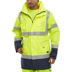 Cheap Stationery Supply of B-Seen Hi-Vis Two Tone Breathable Traffic Jacket Large Yellow/Navy BD109SYNL *Up to 3 Day Leadtime* Office Statationery