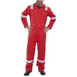 Cheap Stationery Supply of Click Fire Retardant Boilersuit Nordic Design Cotton 46 Red CFRBSNDRE46 *Up to 3 Day Leadtime* Office Statationery