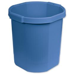 Cheap Stationery Supply of Exacompta Multiform Forever (18L) Waste Paper Bin Recycled Plastic (Cobalt Blue) 435101D Office Statationery