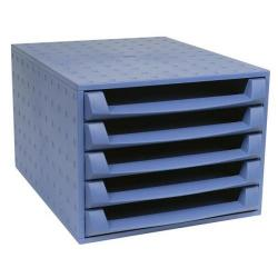Cheap Stationery Supply of Exacompta Multiform Forever (A4+) Desktop 5-Drawer Set Recycled Plastic (Cobalt Blue) 221101D Office Statationery