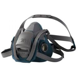 Cheap Stationery Supply of 3M Reusable Half Mask Four Point Adjustment Head Harness Medium Grey 6502QL *Up to 3 Day Leadtime* Office Statationery