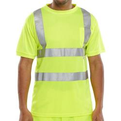 Cheap Stationery Supply of B-Seen T-Shirt Crew Neck Hi-Vis M Saturn Yellow BSCNTSENSYM *Up to 3 Day Leadtime* Office Statationery
