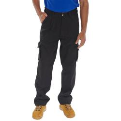 Cheap Stationery Supply of Click Traders Newark Cargo Trousers 320gsm 48 Black CTRANTBL48 *Up to 3 Day Leadtime* Office Statationery