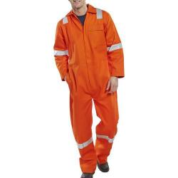 Cheap Stationery Supply of Click Fire Retardant Boilersuit Nordic Design Cotton 46 Orange CFRBSNDOR46 *Up to 3 Day Leadtime* Office Statationery
