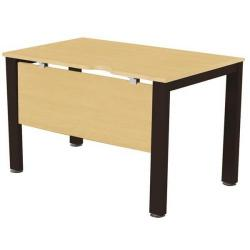 Cheap Stationery Supply of Sonix Office Furniture (80x80cm) Rectangular Desk (Maple) with a Black Frame fbcsmw8-1mbk Office Statationery