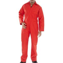 Cheap Stationery Supply of Click Fire Retardant Boilersuit Cotton Size 44 Red CFRBSRE44 *Up to 3 Day Leadtime* Office Statationery