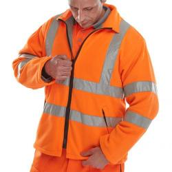 Cheap Stationery Supply of B-Seen High Visibility Carnoustie Fleece Jacket 3XL Orange CARFORXXXL *Up to 3 Day Leadtime* Office Statationery