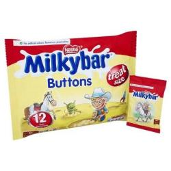 Cheap Stationery Supply of Milky Bar Buttons White Chocolate Mini Bags 156g (Approx 13 Mini Bags) 12385021 Office Statationery