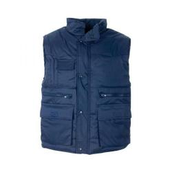 Cheap Stationery Supply of SuperTouch (XXXXL) Body Warmer Polyester with Padding & Multi Pockets (Navy) 58697 Office Statationery