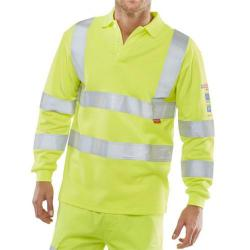 Cheap Stationery Supply of Click Arc Flash Polo L-Sleeve Hi-Vis Fire Retardant 5XL Yellow CARC2HVSY5XL *Up to 3 Day Leadtime* Office Statationery