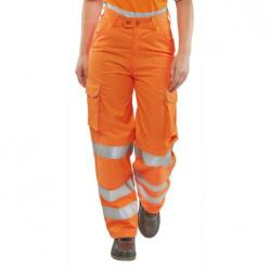 Cheap Stationery Supply of BSeen Rail Spec Trousers Ladies Teflon Hi-Vis Reflective Orange 32 LRST32 *Up to 3 Day Leadtime* Office Statationery