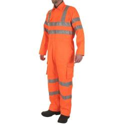 Cheap Stationery Supply of B-Seen Rail Spec Coveralls WIth Reflective Tape Size 46 Orange RSC46 *Up to 3 Day Leadtime* Office Statationery