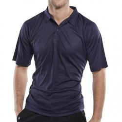 Cheap Stationery Supply of B-Cool Polo Shirt Anti-perspiring L Navy Blue BCPKSNL *Up to 3 Day Leadtime* Office Statationery