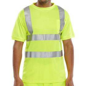 B-Seen T-Shirt Crew Neck Hi-Vis 2XL Saturn Yellow Ref BSCNTSENSYXXL *Up to 3 Day Leadtime*