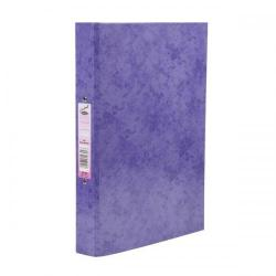 Cheap Stationery Supply of Concord Contrast Ring Binder Laminated 2 O-Ring Capacity 25mm A4 Purple 82196 Pack of 10 Office Statationery