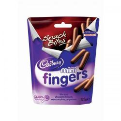 Cheap Stationery Supply of Cadbury Mini Chocolate Covered Finger Biscuits Pouch (125g) 4040998 Office Statationery