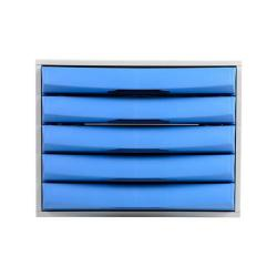 Cheap Stationery Supply of Exacompta Drawer Set Plastic 5 Closed Drawers A4 Plus Grey/Ice Blue Office Statationery