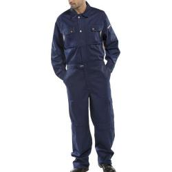 Cheap Stationery Supply of Click Premium Boilersuit 250gsm Polycotton Size 44 Navy Blue CPCN44 *Up to 3 Day Leadtime* Office Statationery
