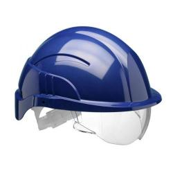 Cheap Stationery Supply of Centurion Vision Plus Safety Helmet Integrated Visor Blue CNS10PLUSEBA *Up to 3 Day Leadtime* Office Statationery