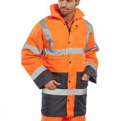 Cheap Stationery Supply of BSeen Hi-Vis Heavyweight Two Tone Traffic Jacket 5XL Orange/Navy TJSTTENGORN5XL *Upto 3 Day Leadtime* Office Statationery