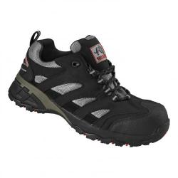 Cheap Stationery Supply of Rockfall Maine Trainer F/Glass Toecap & Flexi-Midsole Size 8 Black/Silver TC130-8 *5-7 Day Leadtime* Office Statationery