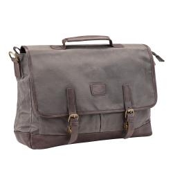 Cheap Stationery Supply of Pride and Soul Vegas 15inch Laptop Briefcase Grey/Brown 47303 Office Statationery