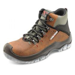 Cheap Stationery Supply of Click Traders Traxion Boot PU/TPU/Leather Steel Toecap 12 Brown TBBR12 *Up to 3 Day Leadtime* Office Statationery