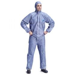 Cheap Stationery Supply of Tyvek Protech Hooded Boilersuit Disposable Medium Blue TBSHBM Pack of 25 *Up to 3 Day Leadtime* Office Statationery
