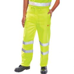 Cheap Stationery Supply of Click Fire Retardant Trousers Anti-static EN471 38-Tall Sat Yell CFRASTETSY38T *Up to 3 Day Leadtime* Office Statationery