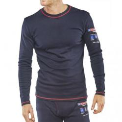 Cheap Stationery Supply of Click Arc Compliant T-Shirt Long Sleeve Fire Retardant 3XL Navy CARC22XXXL *Up to 3 Day Leadtime* Office Statationery