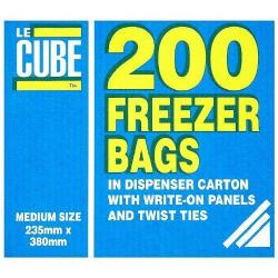 Cheap Stationery Supply of LeCube Food/Freezer Bags Medium 391 Pack of 200 Office Statationery