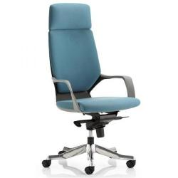Cheap Stationery Supply of Adroit Xenon Black Shell Head Rest Chair Blue 520x470x450-535mm KC0215 Office Statationery