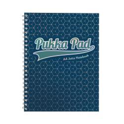 Cheap Stationery Supply of Pukka GLEE Jotta Notepad 200Pg 80gsm Wirebound A4 pls Dark Blue 3007GLE Pack of 3 Office Statationery