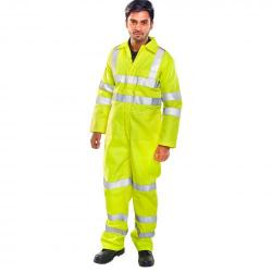 Cheap Stationery Supply of Click Fire Retardant Tesla Boilersuit Hi-Vis EN471 Size 50 Yell CFRASTEBSSY50 *Up to 3 Day Leadtime* Office Statationery