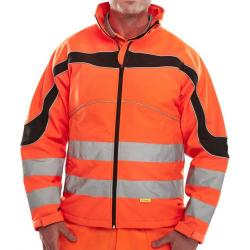 Cheap Stationery Supply of B-Seen Eton High Visibility Soft Shell Jacket 2XL Orange/Black ET41ORXXL *Up to 3 Day Leadtime* Office Statationery
