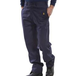 Cheap Stationery Supply of Click Fire Retardant Trousers 300g Cotton 34 Navy Blue CFRTN34 *Up to 3 Day Leadtime* Office Statationery