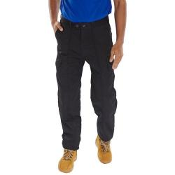 Cheap Stationery Supply of Super Click Workwear Drivers Trousers Black 52 PCTHWBL52 *Up to 3 Day Leadtime* Office Statationery