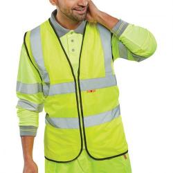 Cheap Stationery Supply of Click Fire Retardant Hi-Vis Waistcoat Polyester 4XL Saturn Yellow CFRWCSY4XL *Up to 3 Day Leadtime* Office Statationery