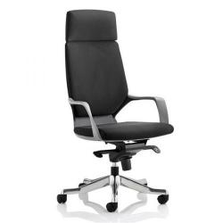 Cheap Stationery Supply of Adroit Xenon Black Shell Head Rest Chair Black 520x470x450-535mm KC0214 Office Statationery