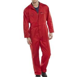 Cheap Stationery Supply of Super Click Workwear Heavy Weight Boilersuit Red Size 42 PCBSHWRE42 *Up to 3 Day Leadtime* Office Statationery