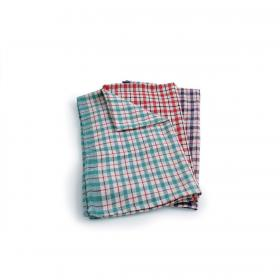 Tea Towels Checked Assorted Colours Ref SPC/TT01/10 Pack of 10