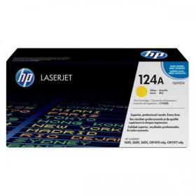 Hewlett Packard HP 124A Laser Toner Cartridge Page Life 2000pp Yellow Ref Q6002A